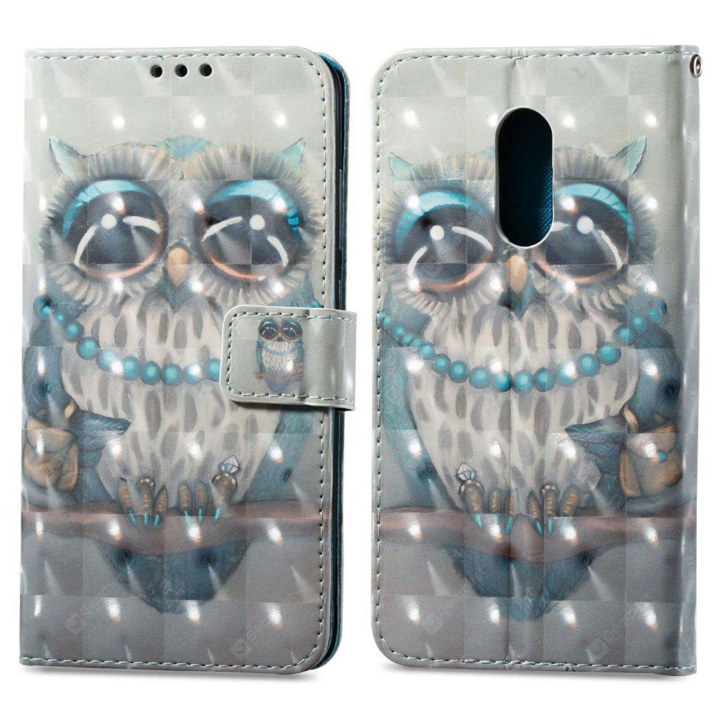 3D Painting Filp Case for Xiaomi Redmi Note 4 / 4X Gray Owl Pattern PU Leather Wallet Stand Cover