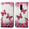 Capa de pintura 3D para Xiaomi Redmi Note 4 / 4X Red Butterfly Pattern PU Leather Wallet Stand Cover - VERMELHO