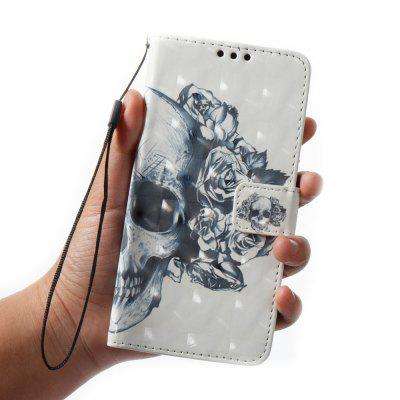 3D Painting Filp Case for Xiaomi Redmi Note 4 / 4X Skeleton Pattern PU Leather Wallet Stand Cover чехол для asus zenfone go zb500kl g case slim premium case черный