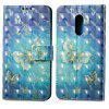 3D Painting Filp Case for Xiaomi Redmi Note 4 / 4X Golden Butterfly Pattern PU Leather Wallet Stand Cover - GOLDEN
