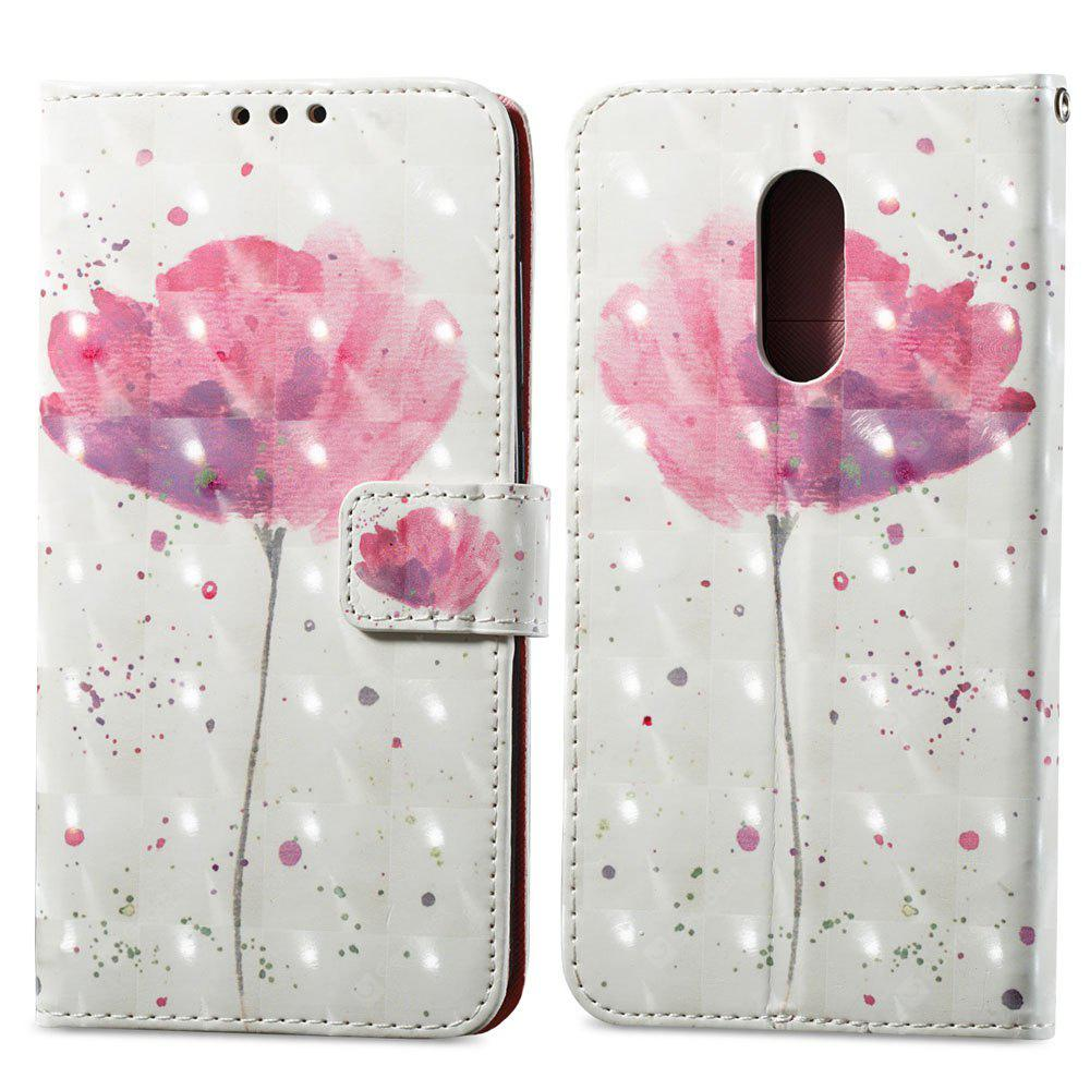 3D Painting Filp Case for Xiaomi Redmi Note 4 / 4X Lotus Pattern PU Leather Wallet Stand Cover
