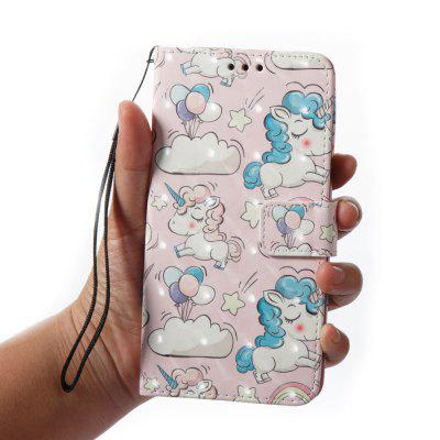 3D Painting Filp Case for Xiaomi Redmi Note 4 / 4X Pink Pony Pattern PU Leather Wallet Stand Cover learning characters pinyin hanzi mandarin books animal kingdom book famous celebrities stories for children books