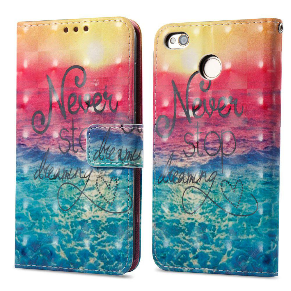 Estojo de pintura 3D para Xiaomi Redmi 4X Ocean Pattern PU Leather Wallet Stand Cover
