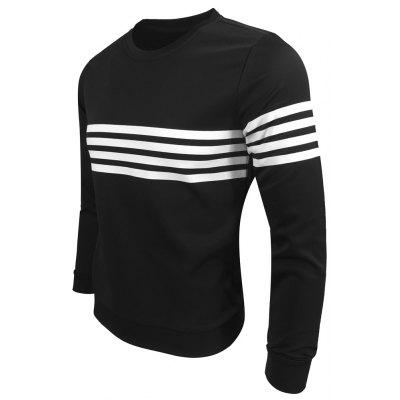 Mens Wear Spring Autumn Round Collar Color Stripe Sports Casual Fashion Long-Sleeved SweatshirtMens Hoodies &amp; Sweatshirts<br>Mens Wear Spring Autumn Round Collar Color Stripe Sports Casual Fashion Long-Sleeved Sweatshirt<br><br>Material: Cotton Blends<br>Package Contents: 1XSweatshirt<br>Shirt Length: Regular<br>Sleeve Length: Full<br>Style: Casual<br>Weight: 0.3000kg