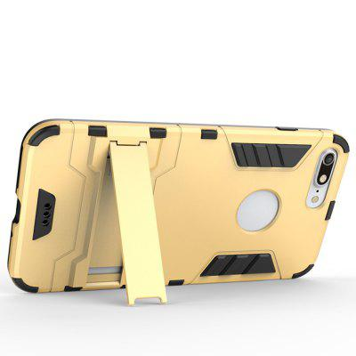 Estuche 2 en 1 Iron Man Bear Tpu + PC Bracket Shield para iPhone 7