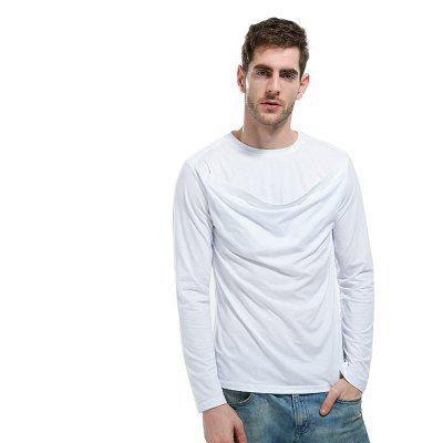 Vogue ManS Long Sleeved T - ShirtMens T-shirts<br>Vogue ManS Long Sleeved T - Shirt<br><br>Collar: Round Neck<br>Material: Cotton<br>Package Contents: 1?T - shirt<br>Pattern Type: Solid<br>Sleeve Length: Full<br>Style: Fashion<br>Weight: 0.3000kg
