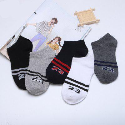 Digital Graphic Elastic Knitting Socks B2017213 - 5 Pairs комплект носков 5 пар uomo fiero uomo fiero uo001fmiig30