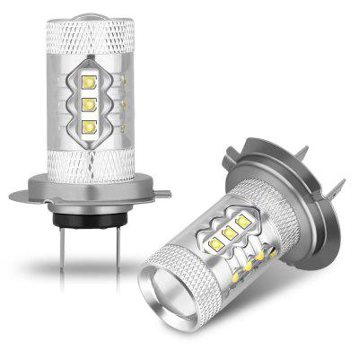 2PCS 80W 2800LM Bec cu LED-uri CREE cu LED-uri H7 Super Bright Lightness 6000K LED Bec Bec Alb