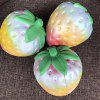 1PC Rainbow Strawberry Jumbo Squishy Scented Slow Rising Rare Fun Toy - COLOUR