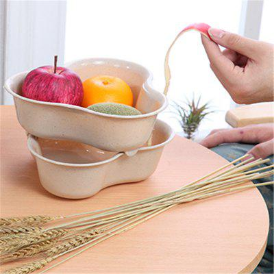 Double Wash vegetables Drain Fruits plastic kitchen fruit dishOther Kitchen Accessories<br>Double Wash vegetables Drain Fruits plastic kitchen fruit dish<br><br>Material: Plastic<br>Package Contents: 1 x Drain basket,1 x Fruit bowl<br>Package size (L x W x H): 20.00 x 20.00 x 8.00 cm / 7.87 x 7.87 x 3.15 inches<br>Package weight: 1.2000 kg<br>Type: Other Kitchen Accessories