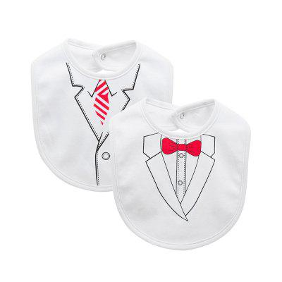 Wuawua Cotton 2pcs a lot  Infant Boys Baby Bibs
