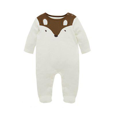 Wuawua  Baby  Rompers Long Sleeve Cotton Fox Embroidered Romperbaby clothing sets<br>Wuawua  Baby  Rompers Long Sleeve Cotton Fox Embroidered Romper<br><br>Closure Type: Pullover<br>Collar: Round Neck<br>Gender: Unisex<br>Material: Cotton<br>Package Contents: 2 x Baby Romper<br>Season: Autumn<br>Sleeve Length: Full<br>Thickness: Thin<br>Weight: 0.3000kg