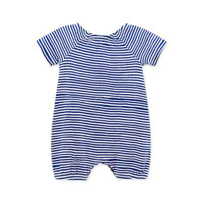 Wuawua  Baby Bodysuit Short Sleeve Cotton Stripe Romperbaby rompers<br>Wuawua  Baby Bodysuit Short Sleeve Cotton Stripe Romper<br><br>Closure Type: Pullover<br>Collar: Round Neck<br>Gender: Boy<br>Material: Cotton<br>Package Contents: 1X romper<br>Season: Summer<br>Sleeve Length: Short<br>Thickness: General<br>Weight: 0.1200kg