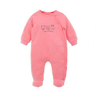 Wuawua  Baby Romper Long Sleeve Cotton Footed Jumpsuit