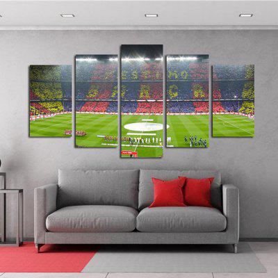 The Living Room of The Football Stadium Is Decorated with Paintings of The Bedroom