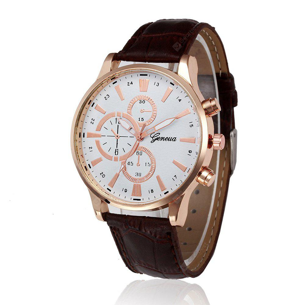 with leather casual s men fashion business date watches pp watch