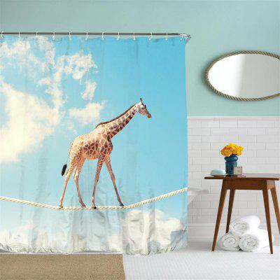 Aerial Giraffe Polyester Shower Curtain Bathroom  High Definition 3D Printing Water-ProofShower Curtain<br>Aerial Giraffe Polyester Shower Curtain Bathroom  High Definition 3D Printing Water-Proof<br><br>Package Contents: 1 x Shower Curtain , 1 x Set of Hooks<br>Package size (L x W x H): 26.00 x 18.00 x 3.00 cm / 10.24 x 7.09 x 1.18 inches<br>Package weight: 0.3500 kg