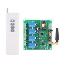 433MHZ 4 Channel AC220V Relay Module Remote Control Switch Panel Remote Control Relay 1000M Receiving Range