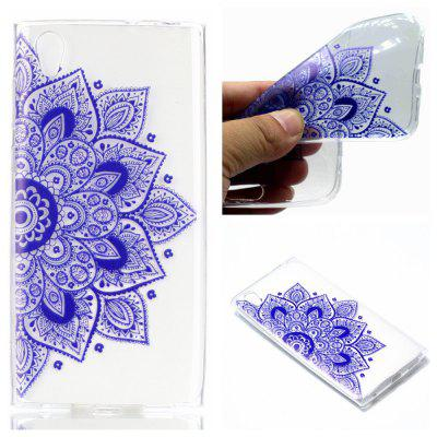 para Sony L1 Ethnic Style Soft Clear TPU Phone Casing Mobile Smartphone Cover Shell Case