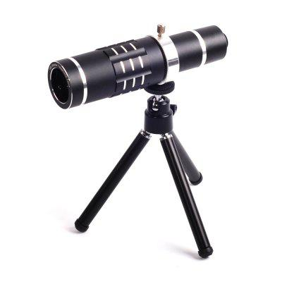 Universal 18X Telephoto Mobile Camera Lens Kit for Cell Phone universal 2 in 1 clip lens kit for cell phone tablet blue