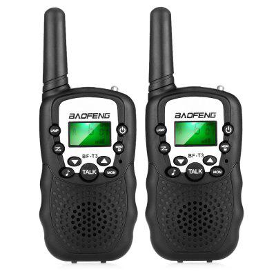 2PCS BAOFENG BF - T3 Wireless Walkie Talkie  -  BLACK