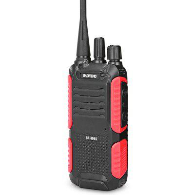 BAOFENG 999S Portable Wireless Handheld Walkie Talkie  -  EU  BLACK AND RED handheld microphone for motorola walkie talkie red