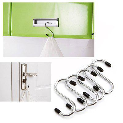 Stainless Steel Round S Shaped Hooks House Kitchen Pot Pan Hanger Clothes Storage Rack Tool 4PCS