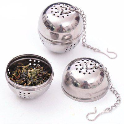 Essential Stainless Steel Ball Tea Infuser Mesh Filter Strainer W/Hook Loose Tea Leaf Spice Home Kitchen Accessories stainless steel 10 mesh filtration mayitr woven wire cloth screen filter 30 30cm for filtering industrial paint oil water