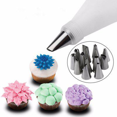 Kitchen Accessories Icing Piping Cream Pastry Bag Stainless Steel Nozzle Set DIY Cake Decorating Tips