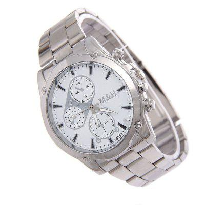 Alloy Steel Strap Mens WatchMens Watches<br>Alloy Steel Strap Mens Watch<br><br>Band material: Zinc Alloy<br>Band size: 23cm<br>Case material: Alloy<br>Clasp type: Sheet folding clasp<br>Dial size: 4cm<br>Display type: Analog<br>Movement type: Digital watch<br>Package Contents: 1 x Watch<br>Package size (L x W x H): 25.00 x 10.00 x 5.00 cm / 9.84 x 3.94 x 1.97 inches<br>Package weight: 0.0650 kg<br>Product size (L x W x H): 23.00 x 4.00 x 0.80 cm / 9.06 x 1.57 x 0.31 inches<br>Product weight: 0.0600 kg<br>Shape of the dial: Round<br>Watch mirror: Acrylic<br>Watch style: Business, Fashion<br>Watches categories: Men<br>Water resistance: Life water resistant
