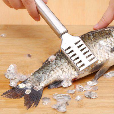 Creative Stainless Steel Kill Fish Scaly Fish Kitchen GadgetsOther Kitchen Accessories<br>Creative Stainless Steel Kill Fish Scaly Fish Kitchen Gadgets<br><br>Material: Stainless Steel<br>Package Contents: 1 x Stainless steel scale shaver<br>Package size (L x W x H): 20.00 x 10.00 x 10.00 cm / 7.87 x 3.94 x 3.94 inches<br>Package weight: 0.0800 kg<br>Product size (L x W x H): 20.00 x 3.40 x 1.90 cm / 7.87 x 1.34 x 0.75 inches<br>Product weight: 0.0500 kg<br>Type: Other Kitchen Accessories