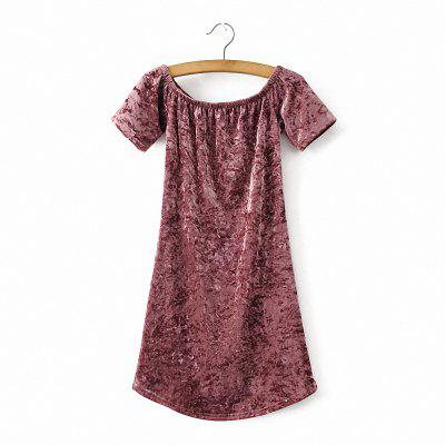 Women Fashion Velvet Short Sleeve Off Shoulder DressMini Dresses<br>Women Fashion Velvet Short Sleeve Off Shoulder Dress<br><br>Dresses Length: Mini<br>Elasticity: Micro-elastic<br>Embellishment: Zippers<br>Fabric Type: Velour<br>Material: Polyester<br>Neckline: Slash Neck<br>Package Contents: 1 x Dress<br>Pattern Type: Solid<br>Season: Spring, Fall, Summer<br>Silhouette: Straight<br>Sleeve Length: Short Sleeves<br>Style: Sexy &amp; Club<br>Waist: Natural<br>Weight: 0.2500kg<br>With Belt: No
