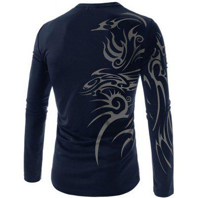 MenS New Fashion Casual Sports Tattoo Printing Breathable T-ShirtMens T-shirts<br>MenS New Fashion Casual Sports Tattoo Printing Breathable T-Shirt<br><br>Collar: Round Neck<br>Material: Cotton Blends<br>Package Contents: 1x T-shirts<br>Pattern Type: Print<br>Sleeve Length: Full<br>Style: Fashion<br>T-shirts: None<br>Weight: 0.2000kg