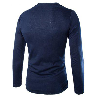 Mens New Color Matching Door Unique Pocket Design Casual Long-Sleeved T-ShirtMens T-shirts<br>Mens New Color Matching Door Unique Pocket Design Casual Long-Sleeved T-Shirt<br><br>Collar: Round Neck<br>Material: Cotton, Cotton Blends<br>Package Contents: 1x T-Shirt<br>Pattern Type: Solid<br>Sleeve Length: Full<br>Style: Fashion<br>T-Shirt: None<br>Weight: 0.2500kg