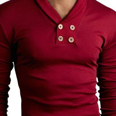Mens New Long Sleeve Small Lapel Design Casual Fashion T-ShirtMens T-shirts<br>Mens New Long Sleeve Small Lapel Design Casual Fashion T-Shirt<br><br>Collar: V-Neck<br>Material: Cotton, Cotton Blends<br>Package Contents: 1x  T-Shirt<br>Pattern Type: Solid<br>Sleeve Length: Full<br>Style: Fashion<br>T-Shirt: None<br>Weight: 0.2500kg