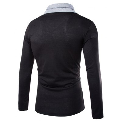Mens New Self-Cultivation Long-Sleeved Triangular Lapel Design Fashion Casual T-ShirtMens T-shirts<br>Mens New Self-Cultivation Long-Sleeved Triangular Lapel Design Fashion Casual T-Shirt<br><br>Collar: V-Neck<br>Material: Cotton, Cotton Blends<br>Package Contents: 1x  T-Shirt<br>Pattern Type: Solid<br>Sleeve Length: Full<br>Style: Fashion<br>T-Shirt: None<br>Weight: 0.2500kg