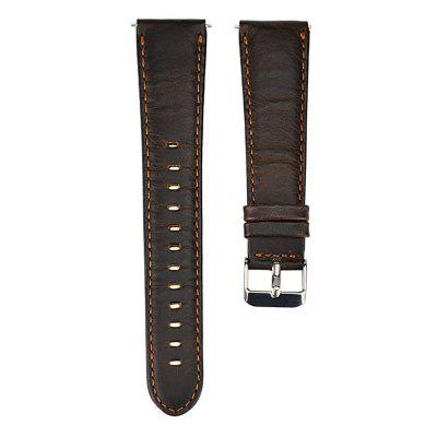 22MM Premium Soft Genuine Leather Strap Replacement Band for Moto 360 2ND Gen 46MM