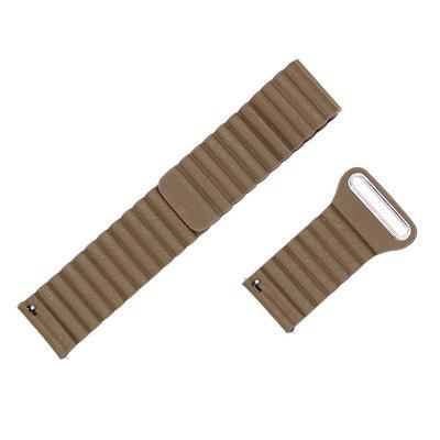 22MM Genuine Leather Watchband Magnetic Clasp Strap for Moto 360 2ND Gen 46MM