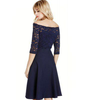 2018 Spring Off Shoulder Lace DressesWomens Dresses<br>2018 Spring Off Shoulder Lace Dresses<br><br>Dresses Length: Knee-Length<br>Elasticity: Elastic<br>Fabric Type: Broadcloth<br>Material: Lace<br>Neckline: Slash Neck<br>Package Contents: 1 x Dress<br>Pattern Type: Solid<br>Season: Spring, Summer, Fall<br>Silhouette: A-Line<br>Sleeve Length: 3/4 Length Sleeves<br>Style: Fashion<br>Weight: 0.3600kg<br>With Belt: No