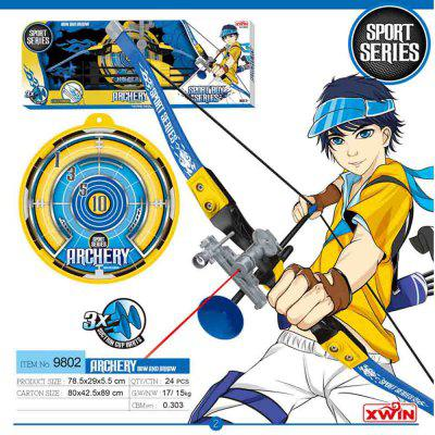 Competitive Archery Outdoor Shooting Toy Suit for ChildrenOther Educational Toys<br>Competitive Archery Outdoor Shooting Toy Suit for Children<br><br>Completeness: Finished Goods<br>Gender: Boys,Girls,Unisex<br>Materials: Plastic<br>Package Contents: 1 x Luminous Bow, 3 x Suction Cup Arrows, 1 x Bulls Eye Target<br>Package size: 78.50 x 29.00 x 5.50 cm / 30.91 x 11.42 x 2.17 inches<br>Package weight: 0.9000 kg<br>Suitable Age: 8 - 12 Years<br>Theme: Other