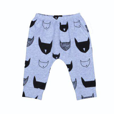 SOSOCOER Children'S Clothing 2-7T Summer Fashion Bats Printed Pants