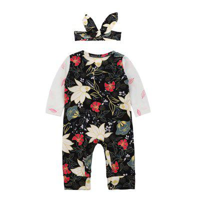 SOSOCOER Baby Clothes Set Newborn Infant Girls Bodysuits Flowers Long Sleeved Romper + Hair Band Two Piecebaby rompers<br>SOSOCOER Baby Clothes Set Newborn Infant Girls Bodysuits Flowers Long Sleeved Romper + Hair Band Two Piece<br><br>Brand: SOSOCOER<br>Closure Type: Pullover<br>Collar: Round Neck<br>Color: Black,White<br>Gender: Girl<br>Material: Cotton<br>Package Contents: 1 x Hair Band, 1 x Romper<br>Pattern Style: Floral<br>Season: Spring<br>Sleeve Length: Full<br>Sleeve Style: Regular<br>Style: Fashion<br>Thickness: General<br>Weight: 0.1400kg