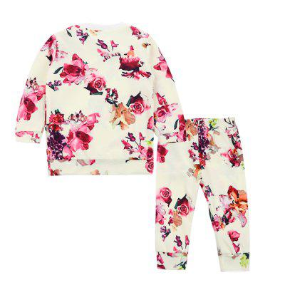 SOSOCOER Kids Girls Clothes Set 2018 Fashion Flower Printed Long Sleeved T-Shirts and Pants Two PiecesGirls clothing sets<br>SOSOCOER Kids Girls Clothes Set 2018 Fashion Flower Printed Long Sleeved T-Shirts and Pants Two Pieces<br><br>Brand: SOSOCOER<br>Collar: Round Neck<br>Material: Cotton, Polyester<br>Package Contents: 1 x T-shirt, 1 x Pair of Pants<br>Pattern Type: Floral<br>Shirt Length: Regular<br>Sleeve Length: Full<br>Style: Fashion<br>Weight: 0.1700kg