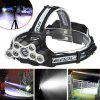 HKV XM - L T6 9LEDs USB Headlight Powerful Flashlight Head Torch Lamp with Life-saving Whistle - COLD WHITE