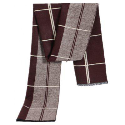 752884249d Autumn and Winter Men s Scarves European and American Wind Fashion High  Grade Cashmere Imitation - Red stripes 180cm35cm