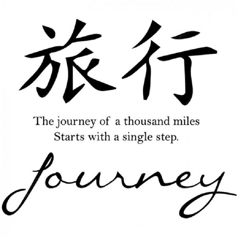 dsu high quality diy wall stickers quotes journey chinese