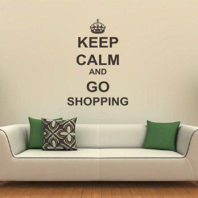 DSU Keep Calm And Go Shopping Vinyl Quotes Living Room Removable DIY Wall  Stickers