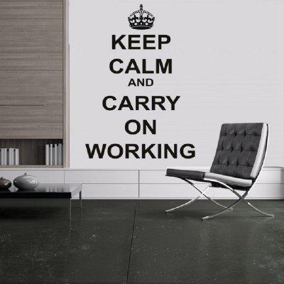 Dsu keep calm wall decals quotes for office study room library keep calm and carry