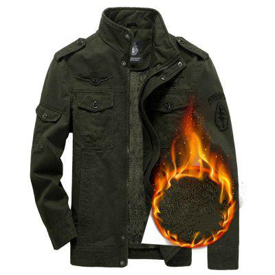 Winter MenS Add Wool Plus Size Jacket Pure Cotton Casual CoatMens Jackets &amp; Coats<br>Winter MenS Add Wool Plus Size Jacket Pure Cotton Casual Coat<br><br>Closure Type: Zipper<br>Clothes Type: Jackets<br>Collar: Turtleneck<br>Color Style: Solid<br>Colors: Black,Khaki,Army green<br>Decoration: Rivet<br>Detachable Part: None<br>Fabric Type: Polyester<br>Hooded: No<br>Lining Material: Cotton,Polyester,Wool<br>Materials: Cotton, Polyester, Wool<br>Package Content: 1x Coat<br>Package size (L x W x H): 1.00 x 1.00 x 1.00 cm / 0.39 x 0.39 x 0.39 inches<br>Package weight: 0.7000 kg<br>Pattern Type: Solid<br>Product weight: 0.6500 kg<br>Shirt Length: Regular<br>Size1: M,L,XL,4XL,2XL,3XL,5XL<br>Sleeve Style: Regular<br>Style: Casual<br>Technics: Handmade<br>Thickness: Thickening<br>Type: Slim