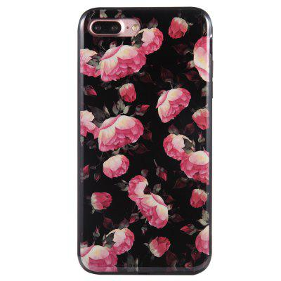 Case for iPhone 8 Plus Diamond Pink Flowers Pattern Cellphone Protective Shell grid pattern handbag style silicone shell for iphone 6s plus 6 plus pink
